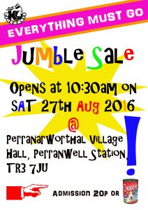 JUMBLE SALE 27TH aug copy