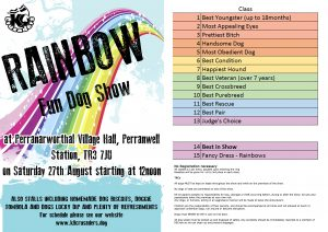 Rainbow dog show schedule