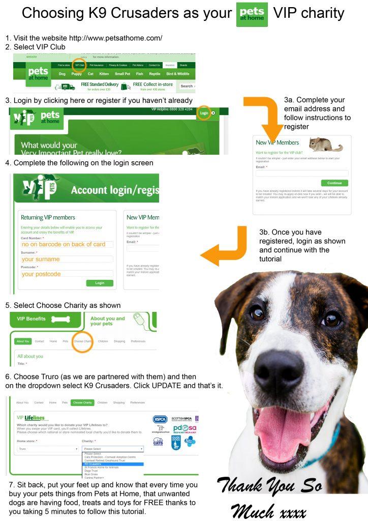 Pets At Home Vip Club Charity K9 Crusaders Dog Welfare