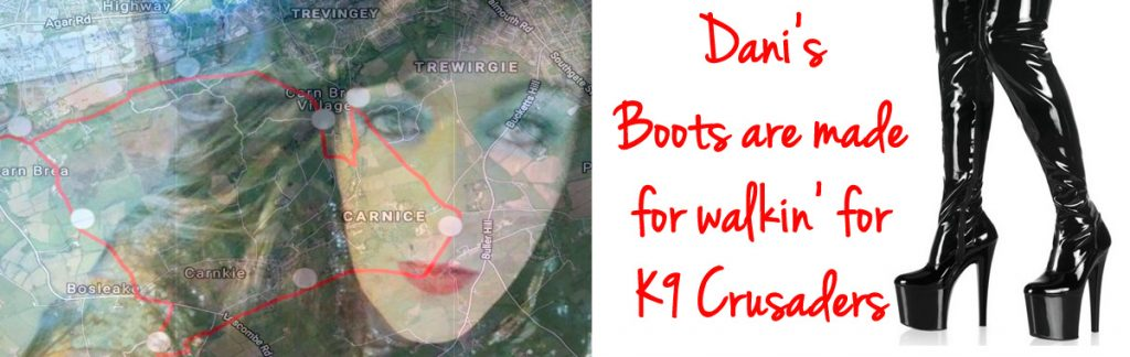 Dani's Boots are made for walking for K9 Crusaders