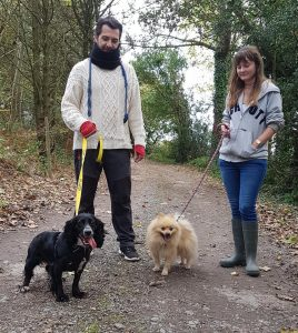 Walking with Tiki and Teddy